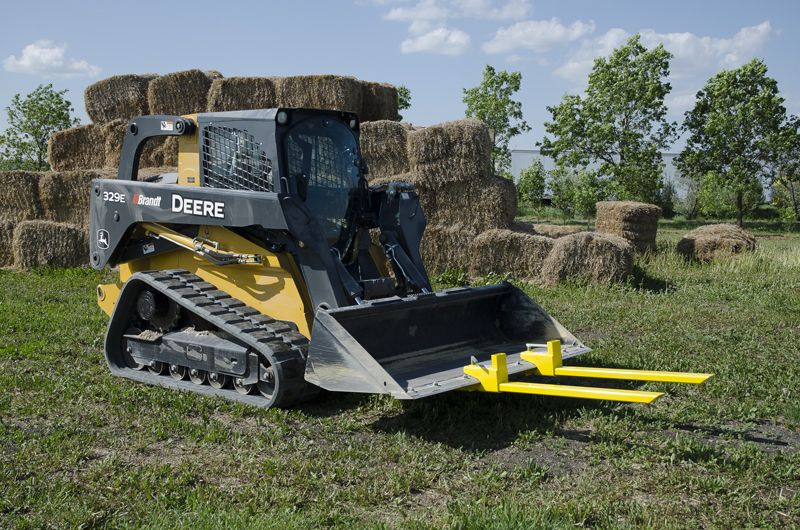 Bucket Forks on Skid Steer