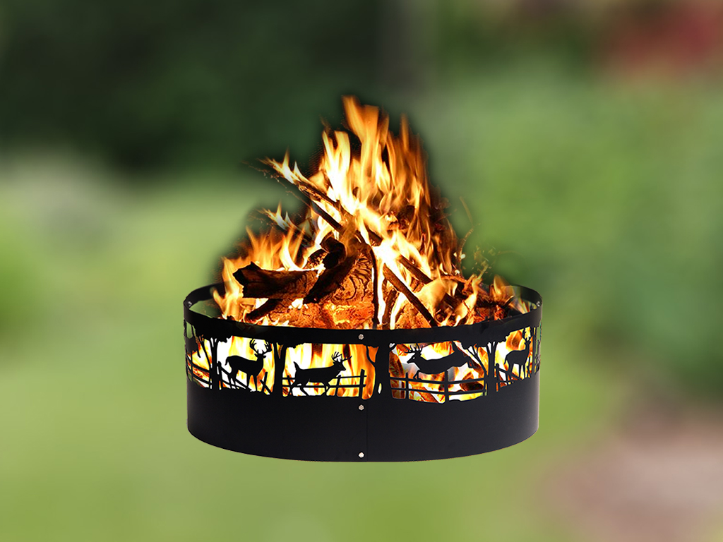 Fire rings for fire pits